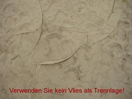 Vlies, Trennlage, Sand